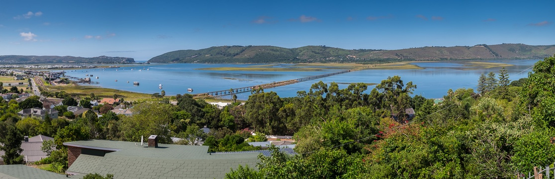 View from Hamilton Manor over lagoon towards the Heads